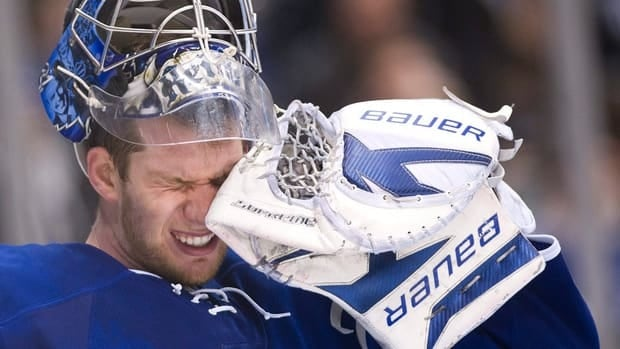 Toronto Maple Leafs new goalie coach Rick St. Croix will be working with James Reimer, pictured, this season after an injury-plagued 2011-12 campaign.