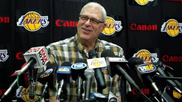 Phil Jackson, seen in this photo from May, 11, 2011, spoke with Los Angeles Lakers brass Saturday about possibly returning to the team for a third stint as head coach. Jackson has 11 NBA titles as a coach.