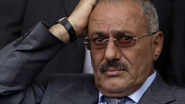 In this April 8, 2011 photo, Yemeni President Ali Abdullah Saleh attends a rally supporting him in Sanaa, Yemen.