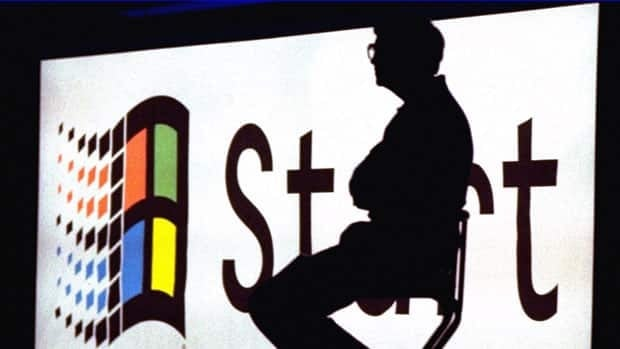 Microsoft Chairman Bill Gates sitting on stage during a Windows 95 Launch Event on Aug. 24, 1995. A German agency is warning of a security breach in Internet Explorer.