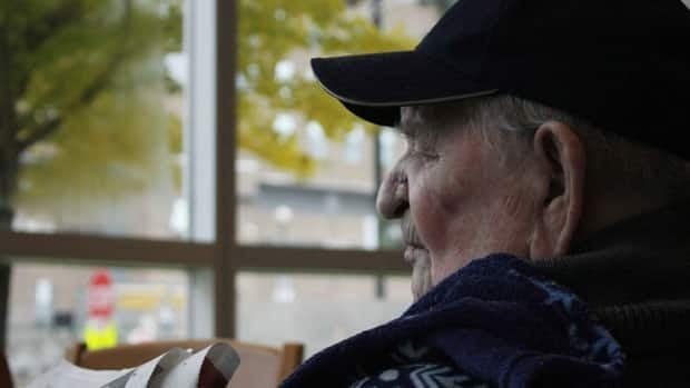 George Burnell, 92, is seen at Sunnybrook's Veterans Centre in Toronto where he lives on Sunday, Oct. 28, 2012. Several families, including his wife and son, have concerns about the level of care their relatives are receiving at the centre.