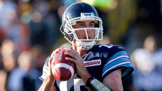 Toronto Argonauts quarterback Ricky Ray looks to make a pass against the Hamilton Tiger-Cats on June 13.