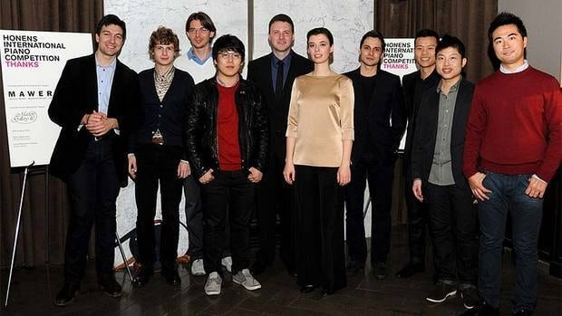 The 10 semifinalists of 2012 Honens International Piano Competition, held in Calgary.