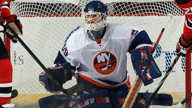 Rick DiPietro was scratched from the lineup Thursday night — one day after he was struck in the mask by a shot fired by new teammate Brian Rolston.