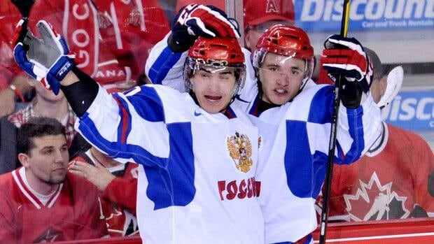 Russia's Nail Yakupov, left, was the top-rated North American-based skater based on NHL central scouting's rankings.