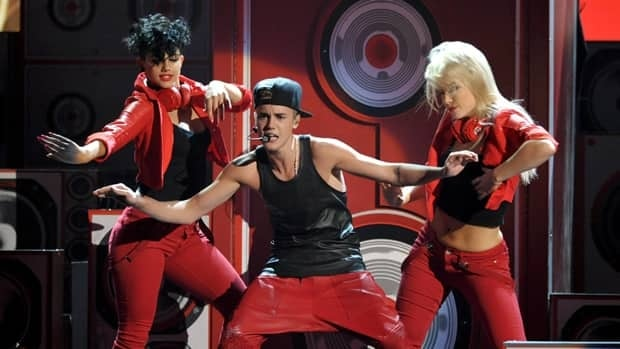 Justin Bieber performs at the 40th Anniversary American Music Awards on Sunday in Los Angeles.