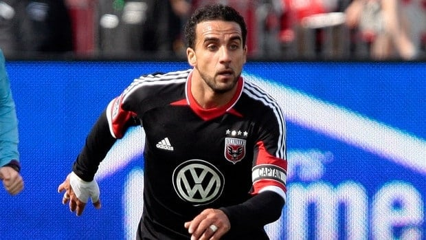 Dwayne De Rosario of DC United moves the ball during MLS action against Toronto FC at BMO Field on May 5, 2012 in Toronto, Ontario, Canada.