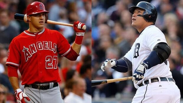 Mike Trout, left, and Miguel Cabrera both made strong cases for American League MVP honours.