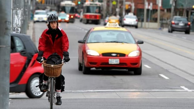 The city's public works committee will study the feasibility of installing a bike lane on Bloor Street.