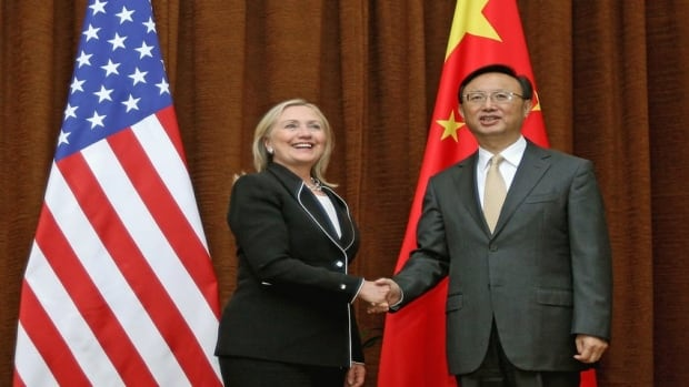 Clinton is pressing China to agree to peacefully resolve territorial disputes with their smaller neighbors