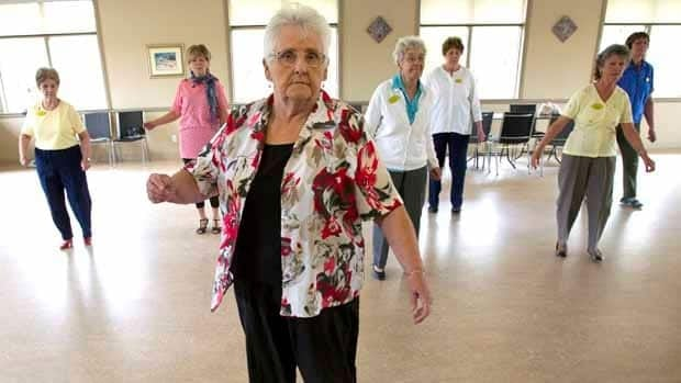 Wilma Galloway, 78, dances at the Mapleridge Recreation Centre in Peterborough, Ont. The city has the highest concentration of senior citizens in Canada.