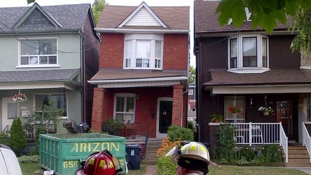 A home in Toronto's Dundas West area has been demolished less than two days after its foundation was compromised during renovations to the basement. The house developed a dramatic lean, prompting city officials to evacuate several neighbouring houses.