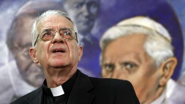Father Federico Lombardi, a Vatican spokesman, pictured at a 2012 press conference backs the church's anti-gay marriage position.