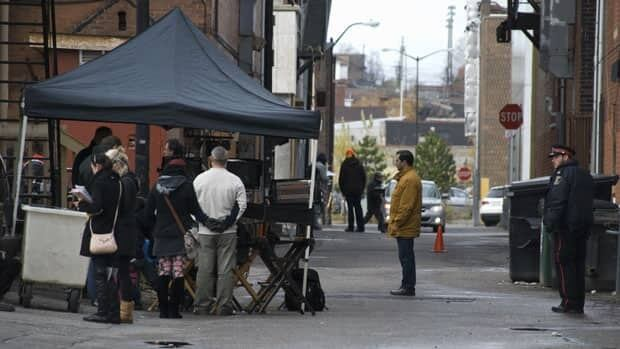 Sudbury photographer Janet Young took this picture of a a big movie being shot in Sudbury. This scene was being filmed in the city's downtown. The action-thriller movie, called The Truth, is expected to be released in 2012.