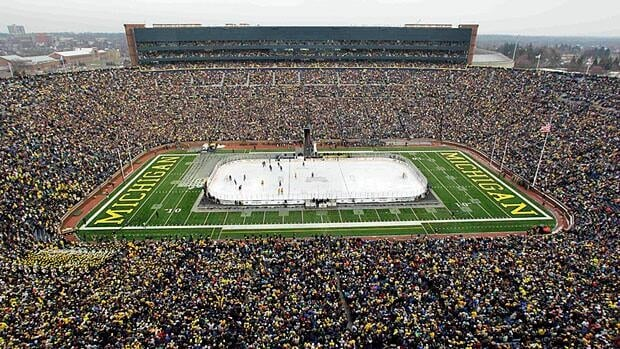 The NHL's 2013 Winter Classic should break the world record for attendance at a hockey game, set at the Big Chill between Michigan and Michigan State at Michigan Stadium in 2010.