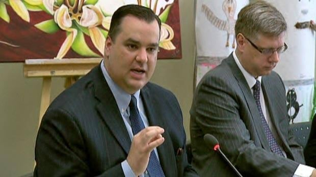 Heritage Minister James Moore started the tour by meeting with Acadian groups in Dieppe, N.B., on Tuesday.