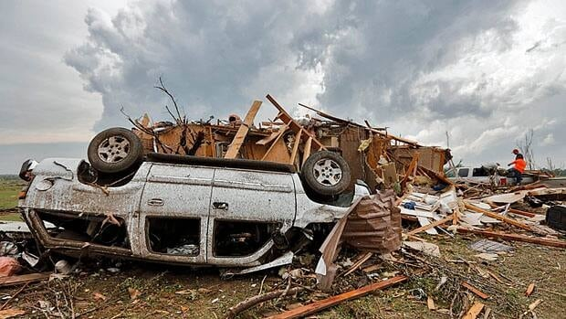 A tornado in Moore, Okla., killed 24 people and injured nearly 400 more on May 20. It destroyed 1,200 homes and damaged another 10,000.