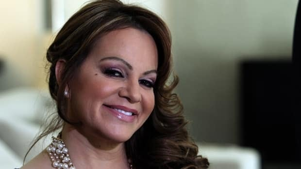 The wreckage of a small plane carrying Mexican-American music superstar Jenni Rivera, shown here in March, was found in northern Mexico on Sunday.