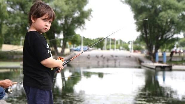 Jeremy Biehn's three-year-old son was still out fishing with his family this week, despite high levels of algae.