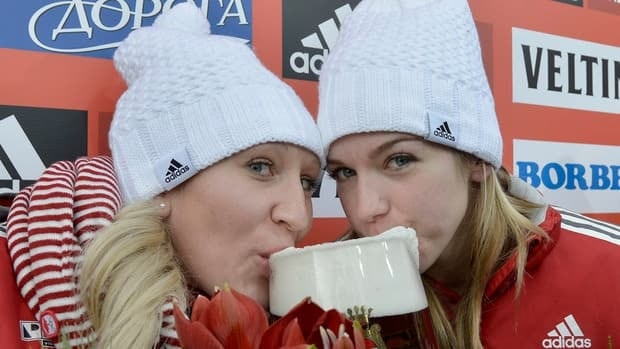 Canadian bobsled driver Kaillie Humphries, left, brakeman Chelsea Valois have been on quite a World Cup roll this season.