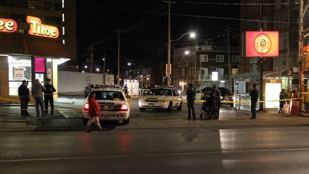 A male was stabbed and slashed on Lansdowne Avenue, near Dupont Street, on Saturday evening.