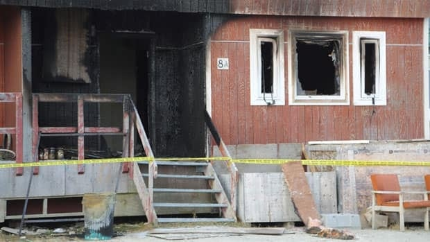 One person is dead following a fire Monday night at a duplex in the hamlet of Cambridge Bay, Nunavut.