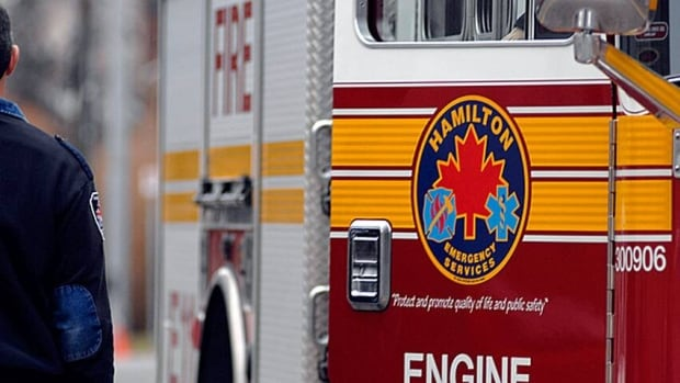 The city of Hamilton is donating one of its older fire trucks to Lac-Mégantic, Que., which was devastated by a train derailment in July. (Terry Asma/CBC)