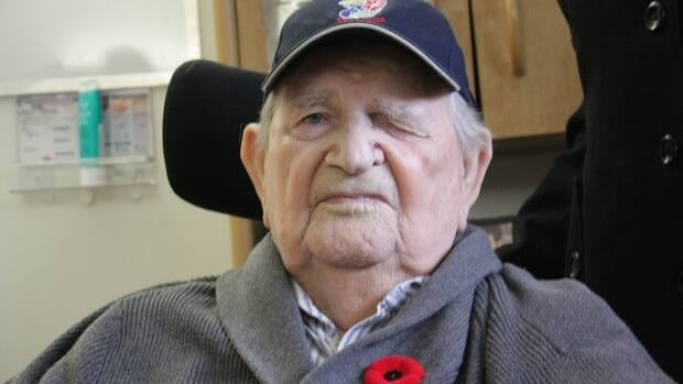 George Burnell, 92, is seen at Sunnybrook's Veterans Centre in Toronto where he lives on Sunday, Oct. 28.