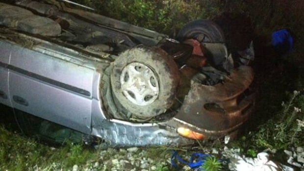 A Deer Lake man was killed after this minivan rolled over after leaving Route 430.