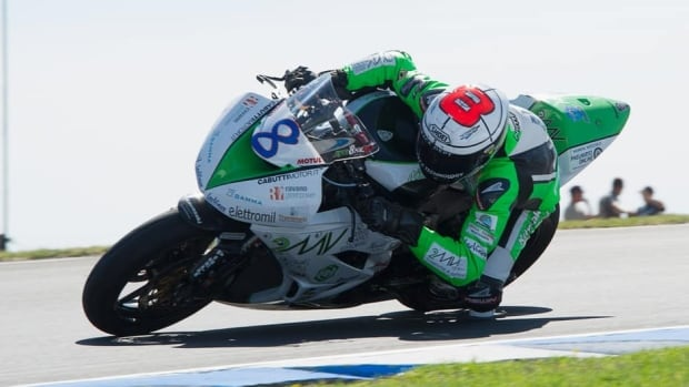 Andrea Antonelli, shown in this file photo, died on Sunday after an accident during a World Supersport race in Moscow.