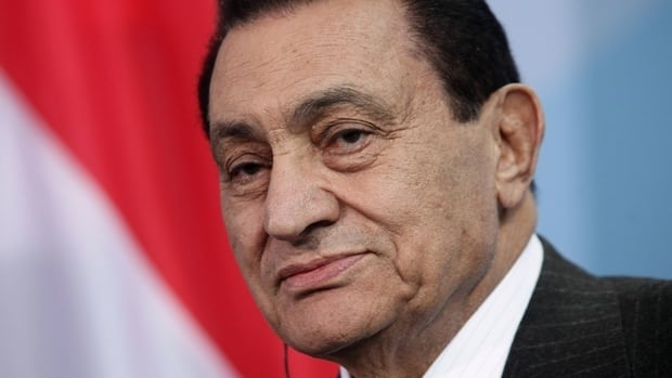 Former Egyptian president Hosni Mubarak was transferred to a military hospital in Cairo after falling in a prison bathroom.