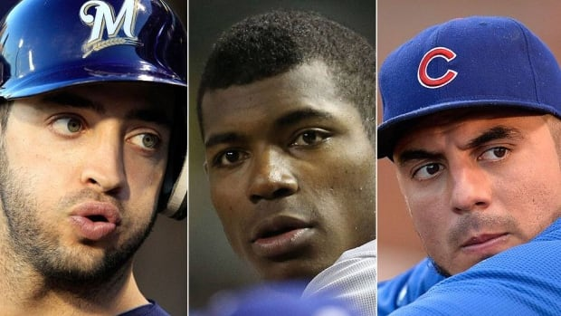 From left, the Brewers' Ryan Braun, Dodgers' Yasiel Puig and Cubs' Matt Garza are players worth watching over the final 10 weeks of the season. Braun could be suspended over his connection to the Biogenesis drug scandal, Puig has been on a tear since his June 2 recall and Garza is likely to be traded.