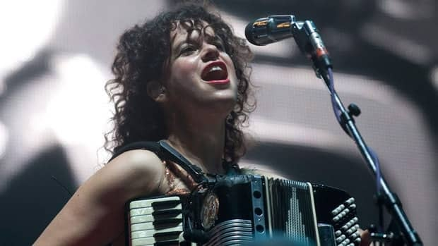 Régine Chassagne of the band Arcade Fire performs in Montreal on Sept., 22, 2011. She said the band's commitment to Haiti is due to her Haitian roots.