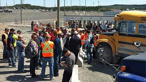 The Long Harbour nickel processing construction site has been hit by a wildcat strike.