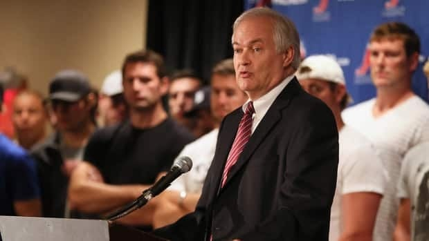 Don Fehr, executive director of the NHLPA during media meeting at Marriott Marquis Times Square on Sept. 13.