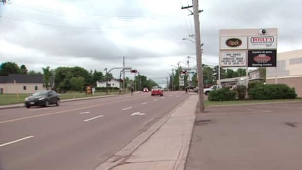 The incident happened on Elmwood Drive in Moncton.