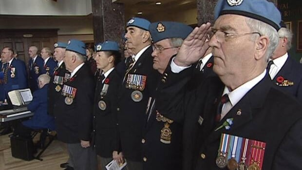 Veterans gathered in St. John's for a remembrance ceremony on Friday.