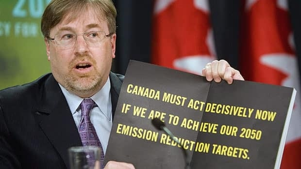 David McLaughlin, president and CEO of the National Round Table on the Environment and the Economy, announces a carbon pricing proposal in 2009. McLaughlin said the group, which is being discontinued, has not recommended a carbon tax.