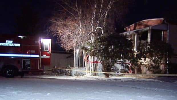 A man died in a mobile home fire in west Edmonton Sunday afternoon.