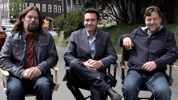 Alan Doyle and Russell Crowe appeared together with another buddy, Allan Hawco, on his television show, Republic of Doyle.