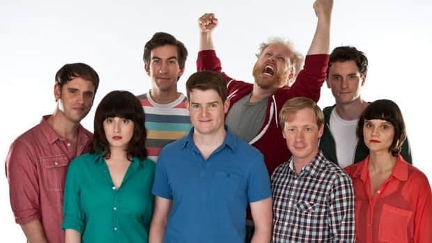 The Halifax-based comedy troupe Picnicface includes (from left) Andrew Bush, Evany Rosen, Mark Little, Scott Vrooman, Brian Eldon Macquarrie, Bill Wood, Kyle Dooley and Cheryl Hann. The troupe won six Canadian Comedy Awards.