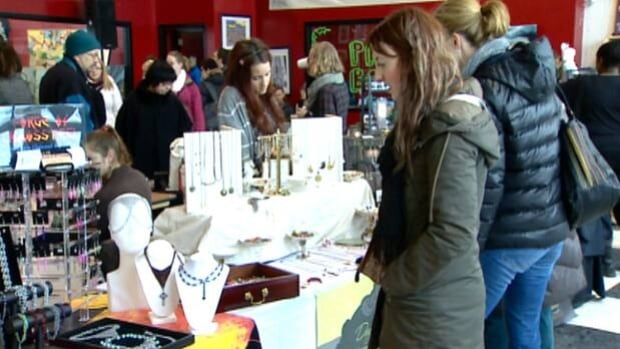 Market Collective artisans gathered on International Avenue in southeast Calgary for the first of three holiday sales.