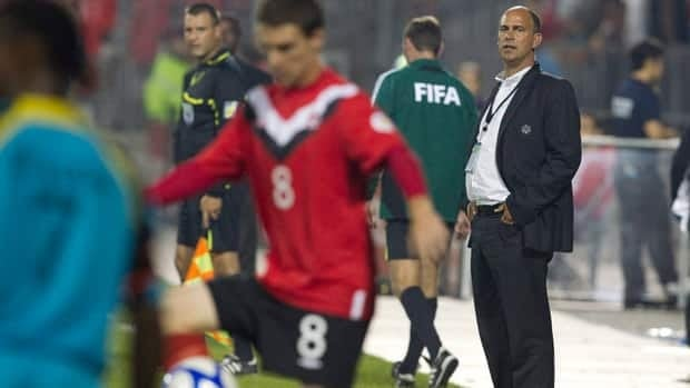 Coach Stephen Hart, right, and the Canadian men's national soccer team are ranked No. 61 in the world.