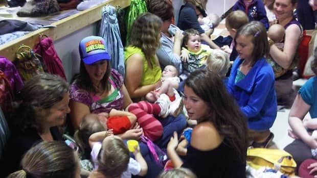 The women wanted to educate the public about their right to breastfeed.