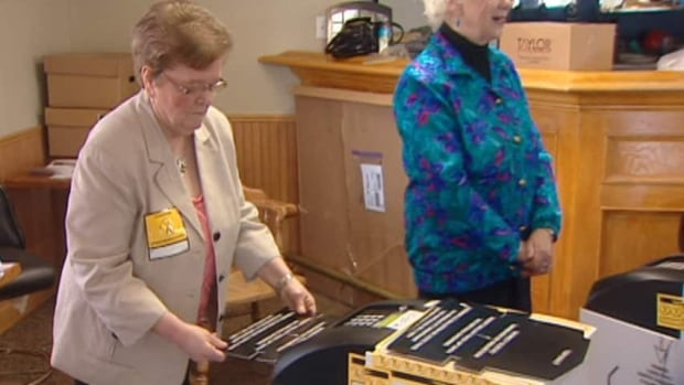 Vote tabulation machines will be used to count ballots in the Sept. 22 election. This is the first time these units have been used in a provincial election.