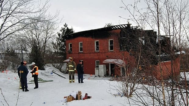 About 20 people were displaced by the March 20, 2013 fire at this Elizabeth Street rooming house in Sudbury.