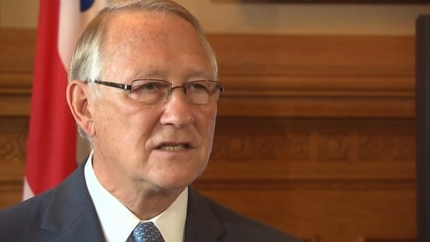 Montreal Mayor Gérald Tremblay at the news conference on Wednesday, Aug. 15, 2012.