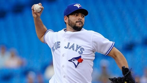 Blue Jays' Carlos Villanueva has allowed three runs or fewer in all but one of his eight starts.