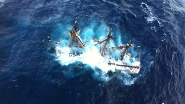 HMS Bounty sank into the Atlantic Ocean hours after the 16-member crew abandoned ship. One woman died and Capt. Robin Walbridge has never been found.