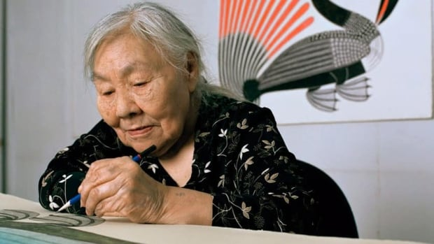 Kenojuak Ashevak was born on South Baffin Island in 1927.  Ashevak is considered a pioneer of Inuit art.